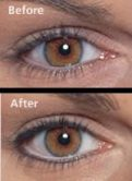 Permanent eyeliner natural look